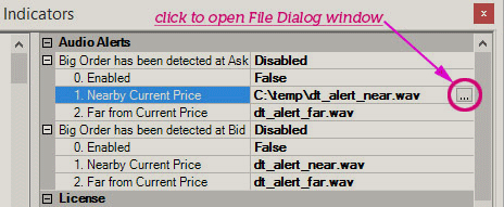 Click to get Open File dialog window